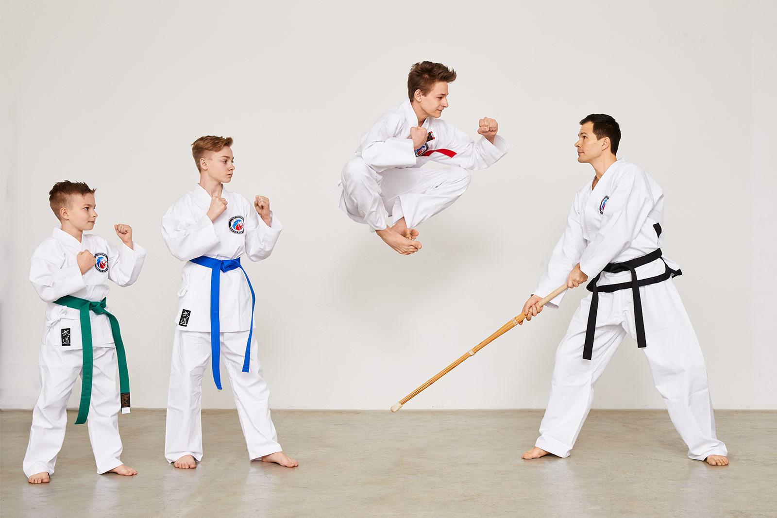 Taekwondo Rotgurt Sprung
