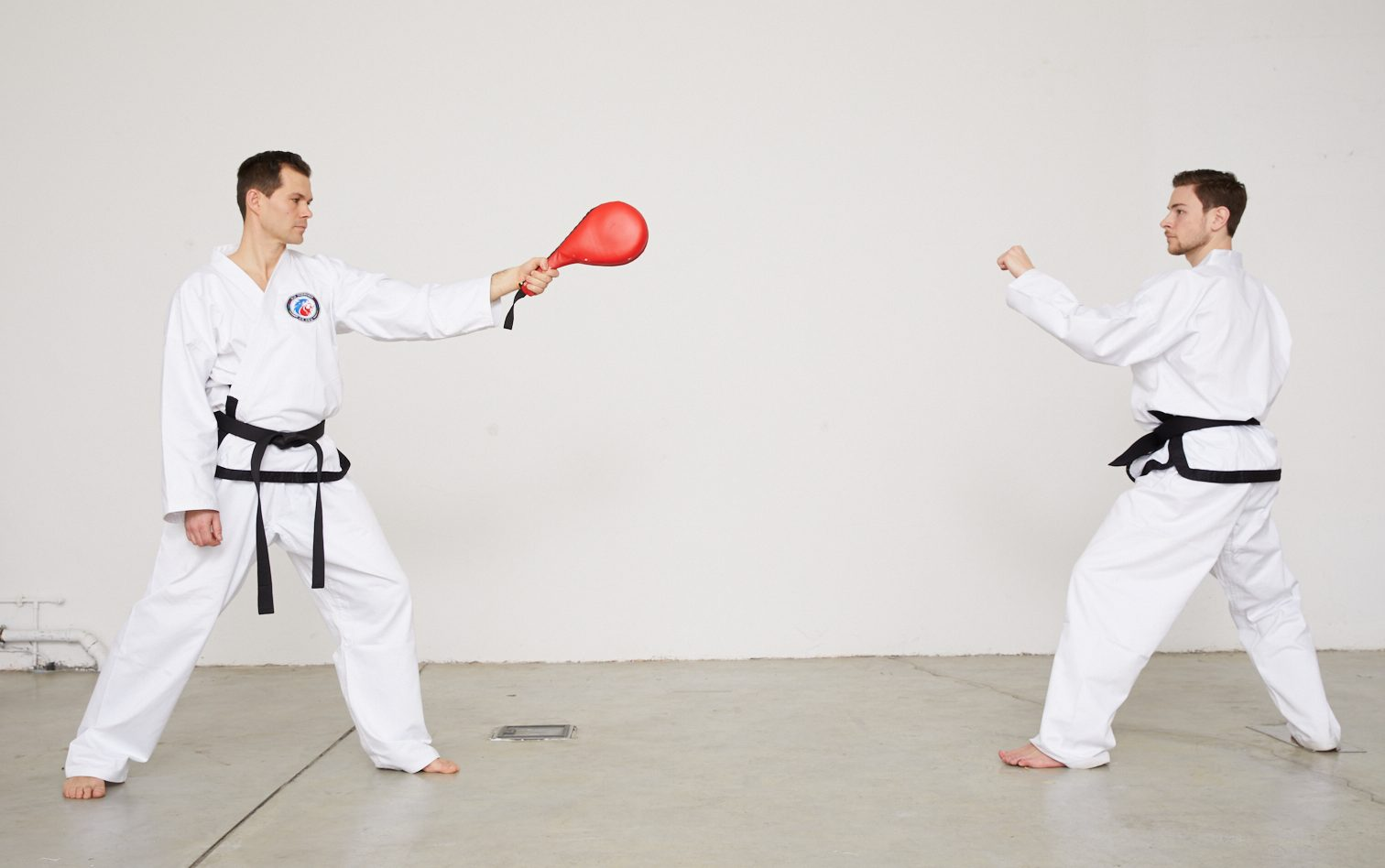 Taekwondo-Kick auf Schlagpolster - Teil 1