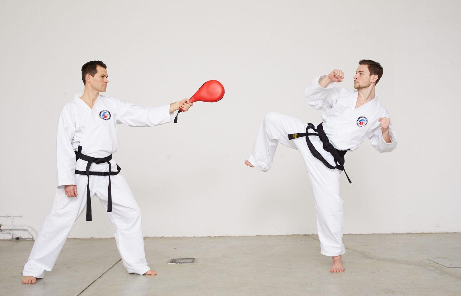 Taekwondo-Kick auf Schlagpolster - Teill 3