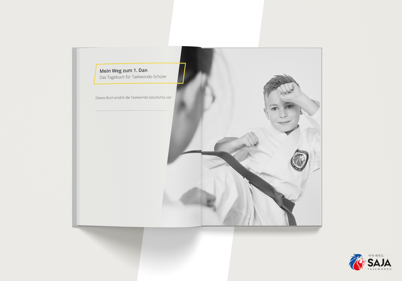 Die Schüler können ihr Taekwondo-Tagebuch personalisieren.